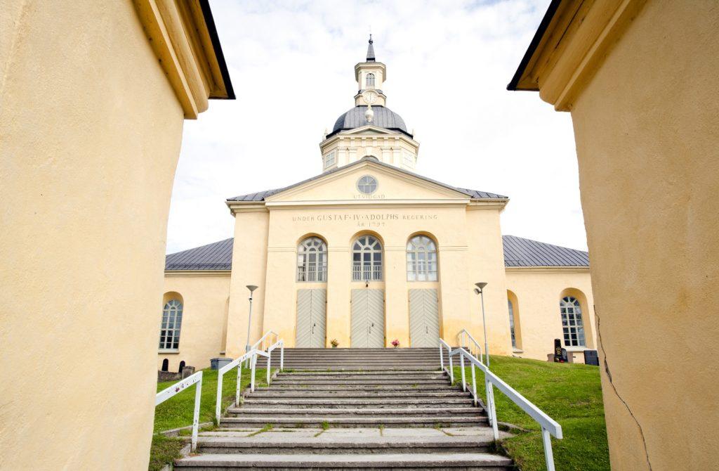 Alatornio kyrka Struves meridianbåge bild Sirkka Image