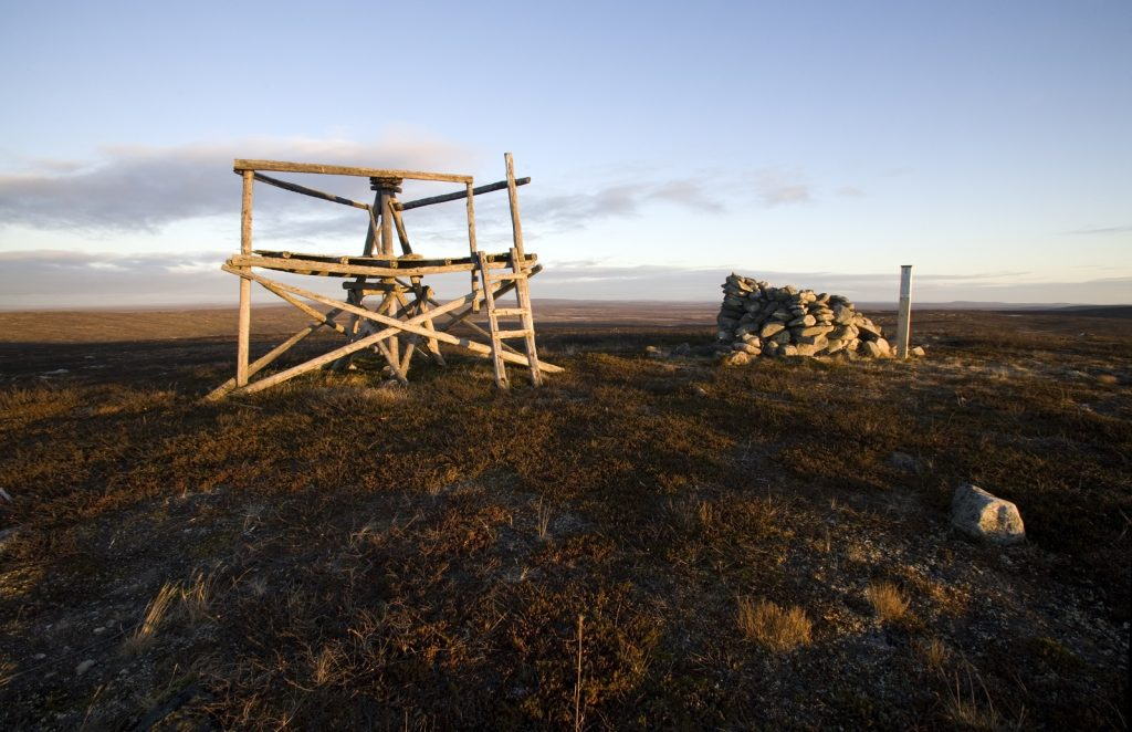 Struve Geodetic Arc in Stuorrahanoaivi during summer time, picure Sirkka Image